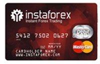 Вид банковской карты InstaForex.