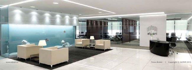 Вид главного офиса компании Альпари.