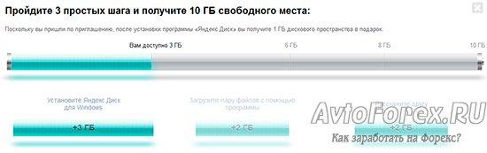 Сколько места доступно на Яндекс.Диске после регистрации.