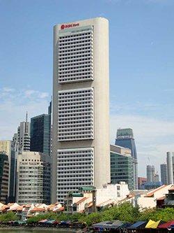 Главный офис OCBC банка в Сингапуре.