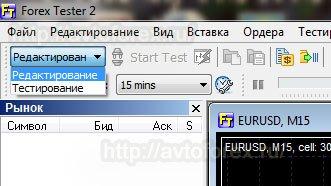 Режимы работы программы Форекс Тестер 2.