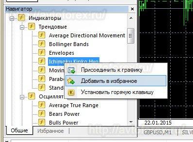 Дополнительные функции окна Навигатор.