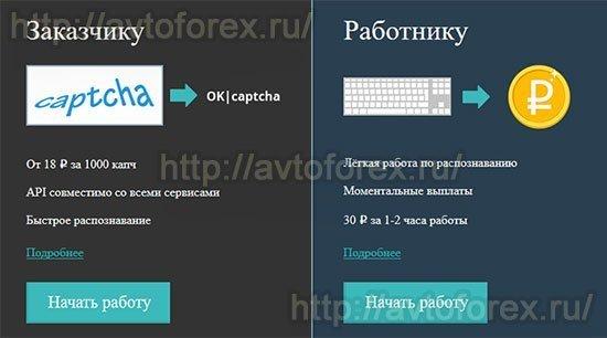 Заработать на первый депозит в сервисе РуКапча.