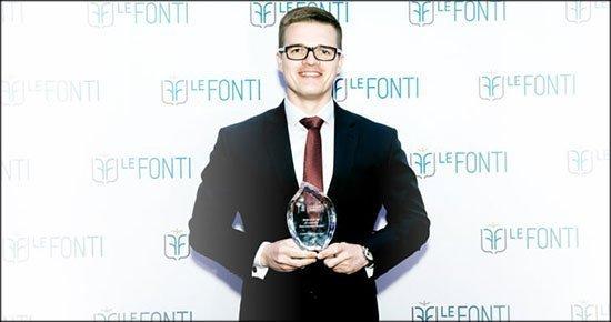 Награда Форексфою на премии LeFonti Awards.